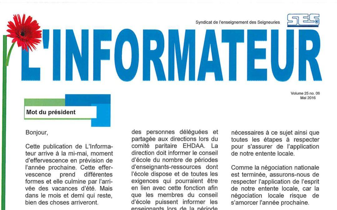 L'Informateur – Mai 2016