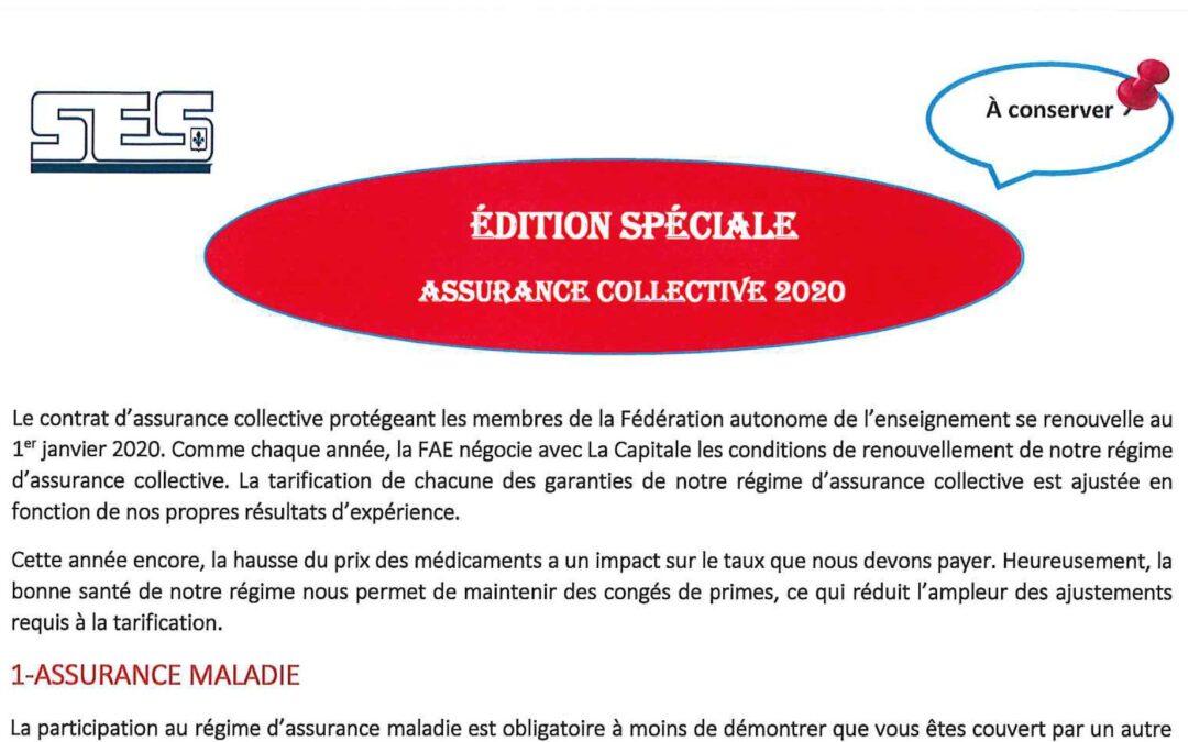 L'Informateur – Assurance collective – Janvier 2020