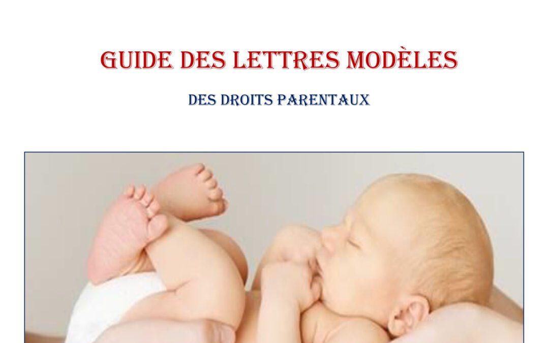 Guide des Lettres modèles des droits parentaux