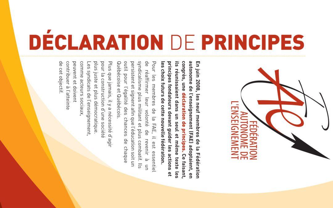 Déclaration de principe