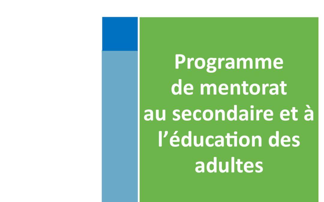 Dépliant pour mentors Secondaire et EDA