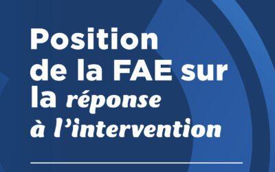 Réponse à l'intervention (RAI)
