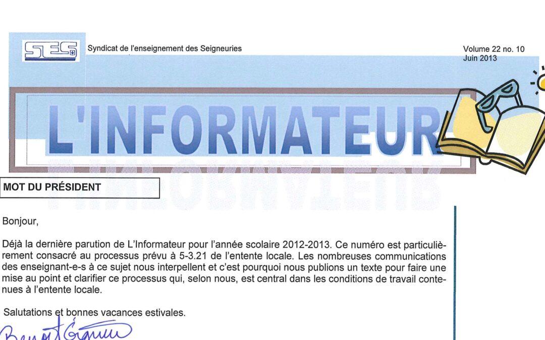 L'Informateur – Juin 2013