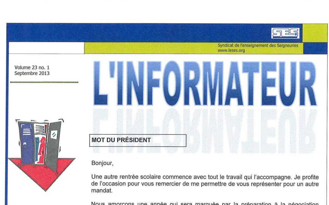 L'Informateur – Septembre 2013