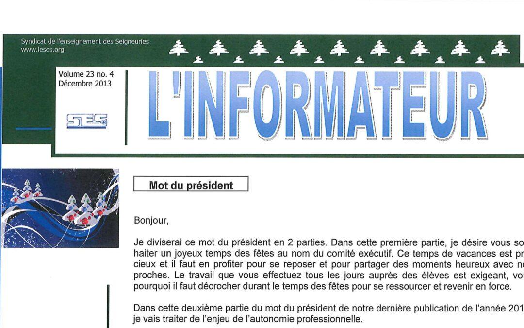 L'Informateur – Décembre 2013