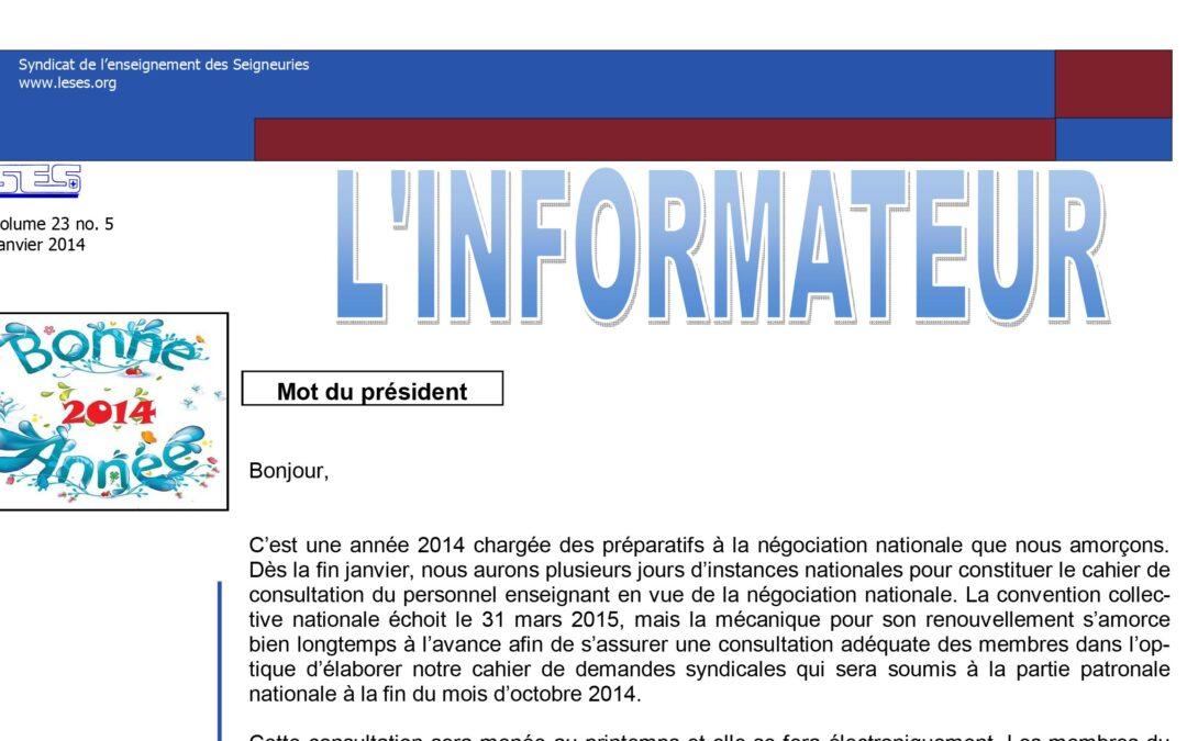 L'Informateur – Janvier 2014