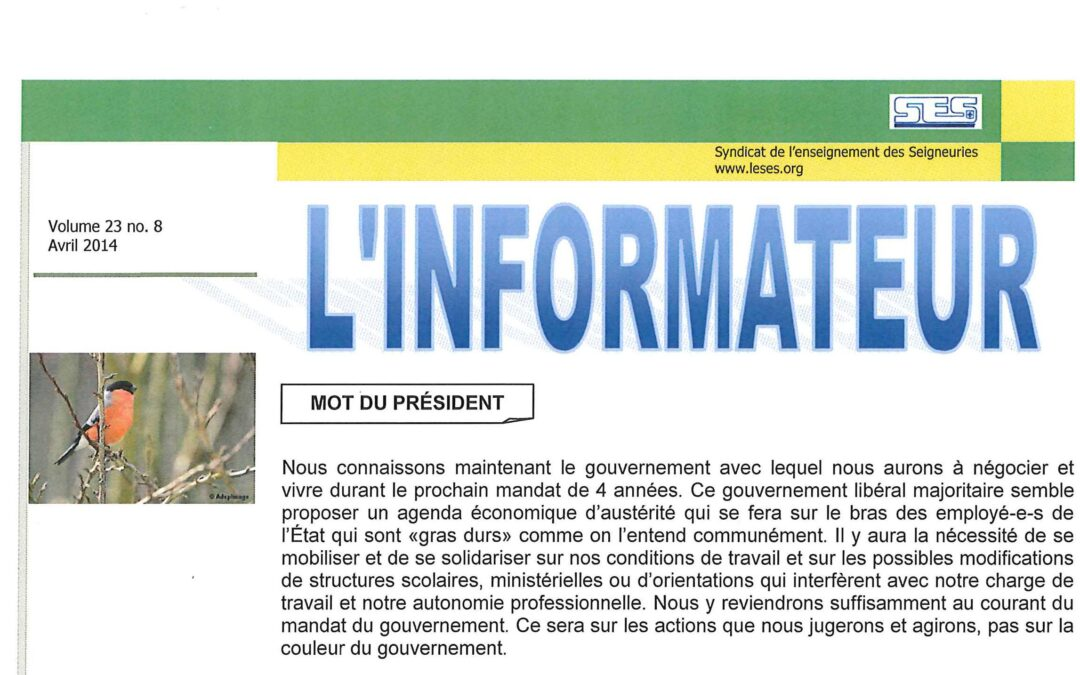 L'Informateur – Avril 2014