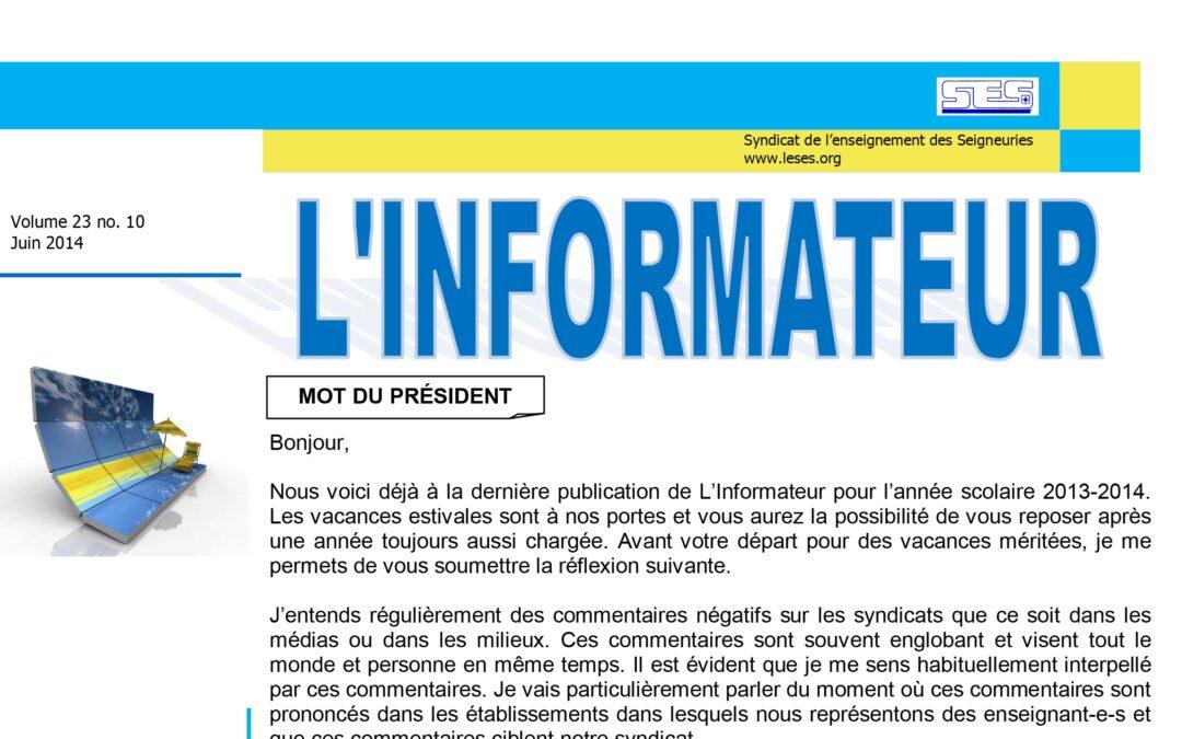 L'Informateur – Juin 2014