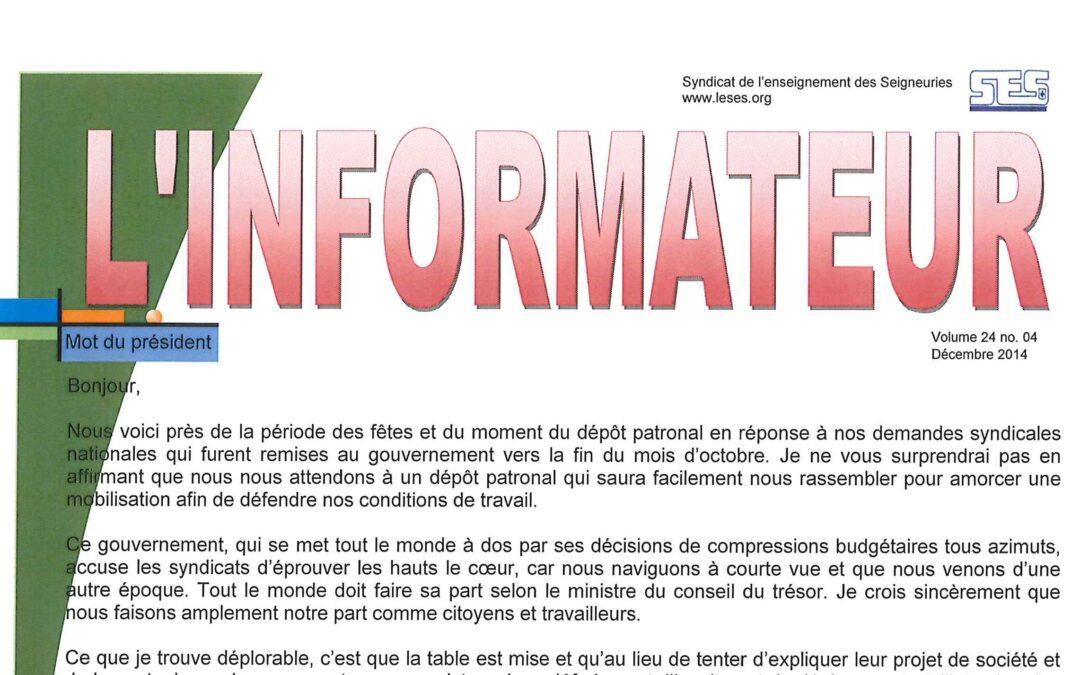 L'Informateur – Décembre 2014