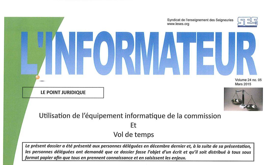 L'Informateur – Mars 2015
