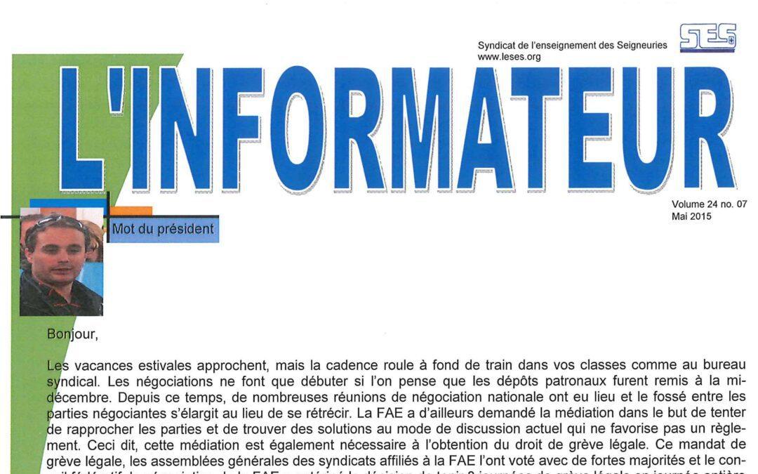 L'Informateur – Mai 2015