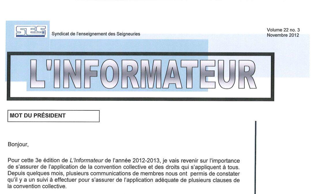 L'Informateur – Novembre 2012
