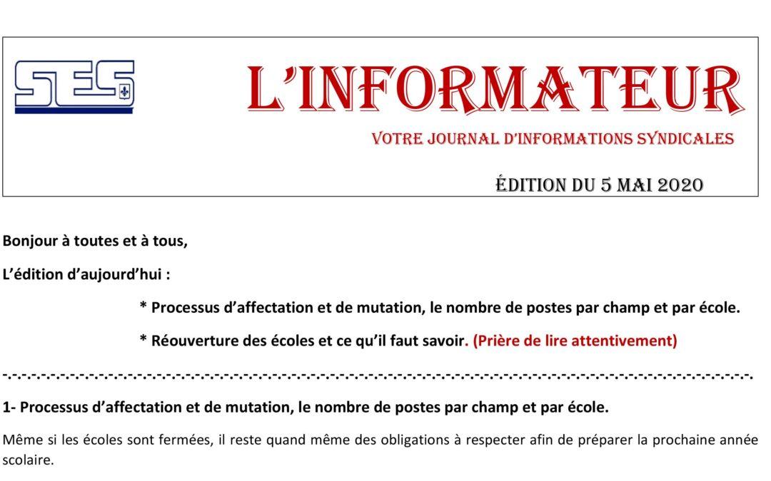 L'Informateur – 5 Mai 2020