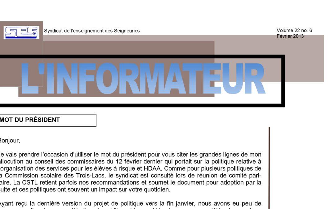 L'Informateur – Février 2013