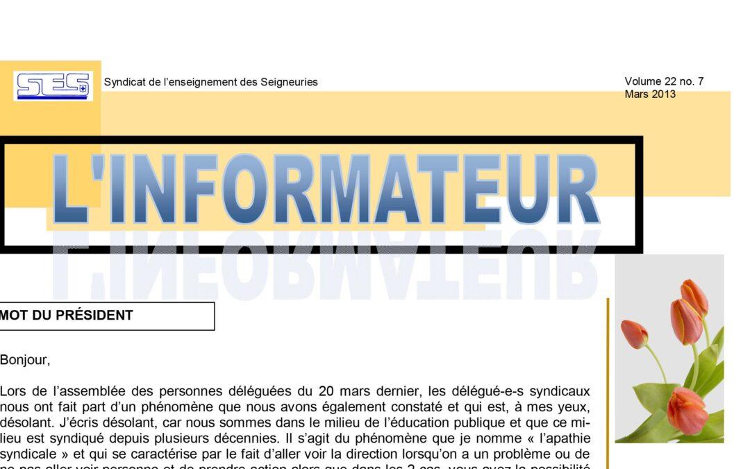 L'Informateur – Mars 2013