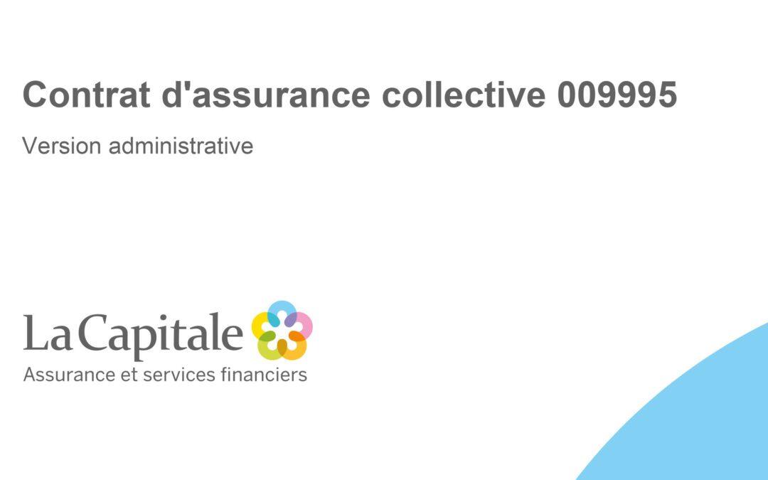 La Capitale: Contrat d'assurance collective