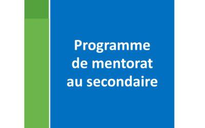 Programme de mentorat au secondaire